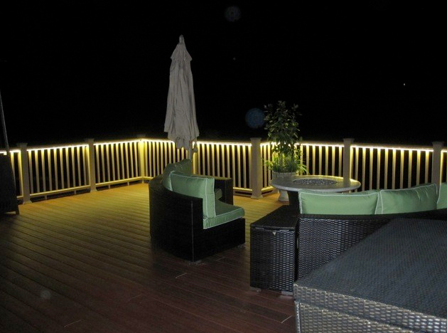 Rope Lighting Is An Easy Patio And Deck Lighting Solution.